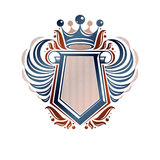Blank heraldic coat of arms decorative emblem with copy space an Stock Photography