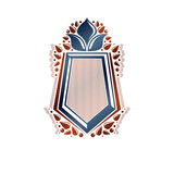 Blank heraldic design with copy space, vector vintage protection Royalty Free Stock Photos