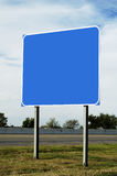 Blank highway sign Stock Photo