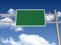 Blank Highway Sign Stock Images