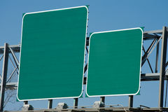 Blank Highway Sign Royalty Free Stock Photo