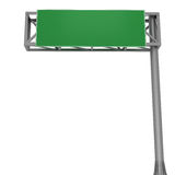 Blank highway signboard Stock Image