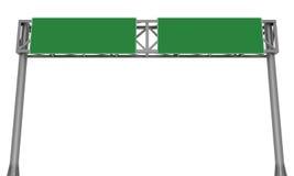 Blank highway signboard Stock Photos