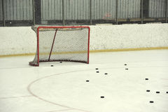 Blank hockey net Royalty Free Stock Photos