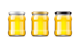 Blank Honey bottles mockup. Stock Image