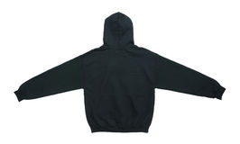 blank hoodie sweatshirt color black back view stock images