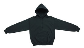 Blank hoodie sweatshirt color black front view royalty free stock photo