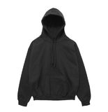 Blank hoodie sweatshirt color black front view Stock Image