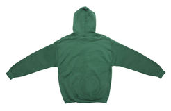 Blank hoodie sweatshirt color green back view Stock Photography