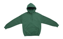 Blank hoodie sweatshirt color green front view Royalty Free Stock Images