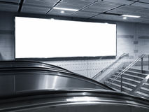 Blank Horizontal big poster Billboard in subway station Royalty Free Stock Image