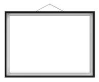 Blank horizontal painting in black frame Royalty Free Stock Image