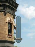 Blank Hotel Sign Stock Photo