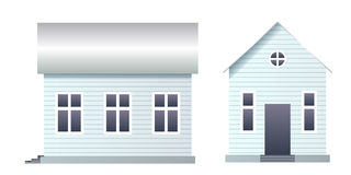Blank house with siding Stock Photo