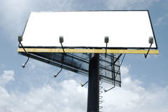 Blank huge billboard Royalty Free Stock Image