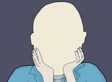 Blank Human Face Illustration Royalty Free Stock Photo