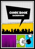 Color comics book cover vertical backdrop Stock Images