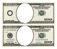 Blank hundred dollars stock photo