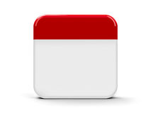 Blank icon calendar. Empty calendar web button, three-dimensional rendering Royalty Free Stock Photo