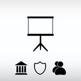 Blank icon, vector illustration. Flat design style Royalty Free Stock Photography