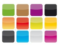 Blank icons set stock images