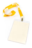 Blank ID card tag Stock Photos