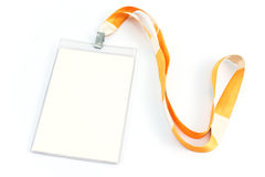 Blank ID card tag. Isolated on white Stock Images