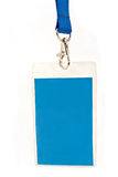 Blank ID card tag isolated Stock Images