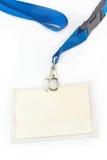 Blank ID card tag Stock Photos