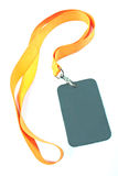 Blank ID card tag Royalty Free Stock Photography