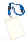 Blank ID card tag Stock Photography