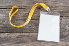 Blank ID card tag Royalty Free Stock Image