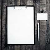 Blank ID template Royalty Free Stock Photos