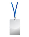 Blank identification card illustration design Stock Photo