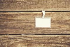Blank Identification Card stock photography