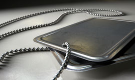 Blank Identity Dog Tags Dramatic Royalty Free Stock Image