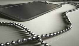 Blank Identity Dog Tags Dramatic Stock Image