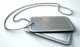 Blank Identity Dog Tags Isolated Royalty Free Stock Image