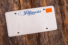 Blank Illinois License Plate Stock Images