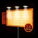 Blank illuminated billboard poster Royalty Free Stock Photography