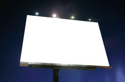 Blank illuminated billboard in the sunset Stock Photo