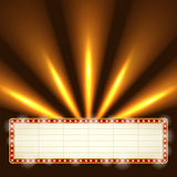 Blank illuminated marquee frame. Stock Photo