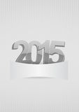 2015 blank. Illustration of 2015 text with area blank Stock Photography