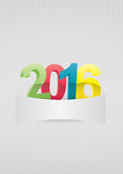 2016 blank. Illustration of 2016 text with space blank Vector Illustration