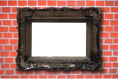 Blank image frame and wall Royalty Free Stock Images