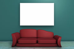 Blank Image And Sofa Stock Photos