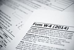 Blank income tax forms. American 1040 Individual Income Tax return form. Royalty Free Stock Images