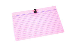 Blank index card Royalty Free Stock Images