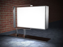 Blank Info Advertisment Billboard in Night City Light Royalty Free Stock Photo