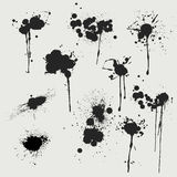 Blank ink splats Stock Photography